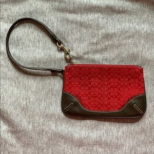 Coach wristlet in Signature mini print